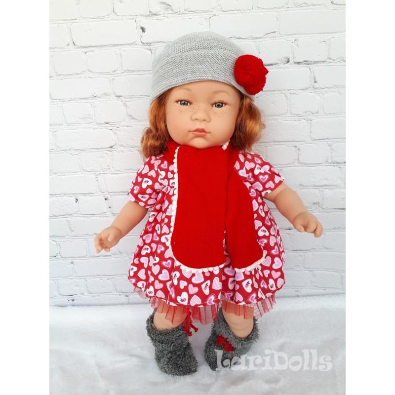 Кукла мягконабивная Tai ( рыжик с россыпью веснушек), 45 см